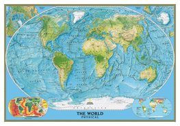 Wereldkaart behang The World Physical