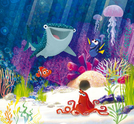 Finding Dory behang Aqua Party