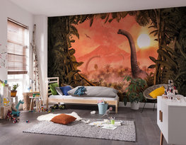 Dinosaurus behang Brachiosaurus Panorama