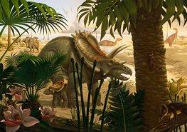 Dinosaurus behang Anchiceratops Jungle
