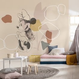 Minnie Mouse behang Soft Shapes