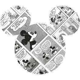 Mickey Mouse muursticker Comic Cartoon Head
