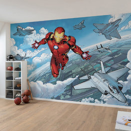 Avengers fotobehang Iron Man Flight