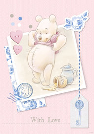Winnie the Pooh behang pastel With Love