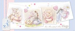 Winnie the Pooh VLIES fotobehang Hugs H