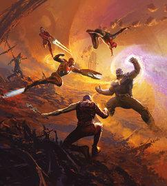 Avengers fotobehang Epic Battle Titan