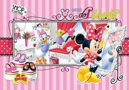 Minnie Mouse fotobehang L - gestreept