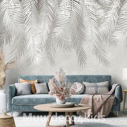 Hangende palmbladeren behang