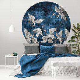 Behangcirkel Kraanvogels