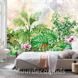 Tropische planten behang
