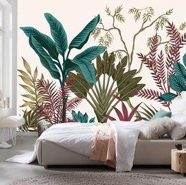 Botanisch behang Tropische planten