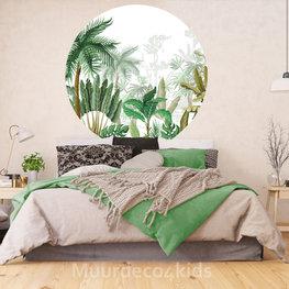 Behangcirkel Jungle Tropical