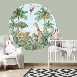 Behangcirkel Jungle Aquarel