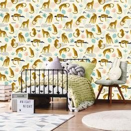 Luipaarden behang kinderkamer