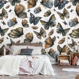 Grote vlinders behang