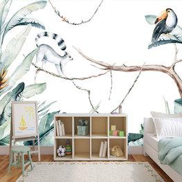 Aquarel Jungle Paradise behang