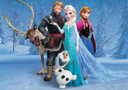 Frozen behang Family XL