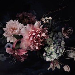Stilleven bloemen behang