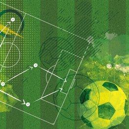Voetbal behang Tactiek