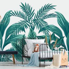 Botanisch behang Tropische bladeren