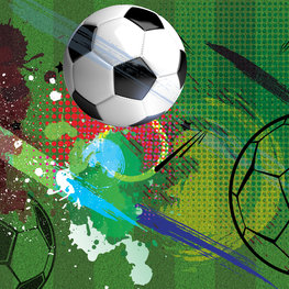 Voetbal behang Bal