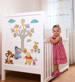 Winnie the Pooh muurstickers Babykamer