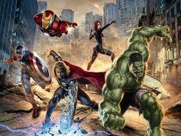 Avengers fotobehang Street Rage XL