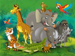 Jungle fotobehang XL Dieren junior