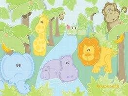 Jungle behang Babykamer Safari XL