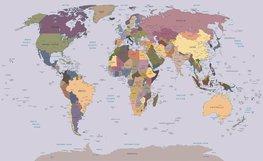 Wereldkaart fotobehang XL