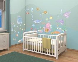 Onderwater muurstickers Babykamer WT