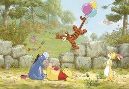 Winnie the Pooh Ballooning fotobehang