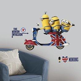 Minions Scooter maxi muursticker RMK