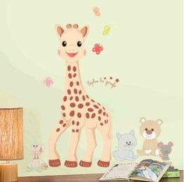 Sophie de giraf muursticker GROOT