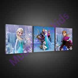 Frozen canvas 3-delige set Family