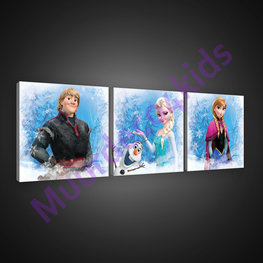 Frozen canvas 3-delige set