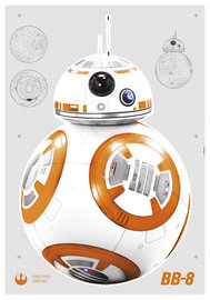 Star Wars BB-8 muursticker XL