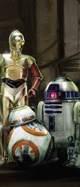 Star Wars VII deurposter Robots