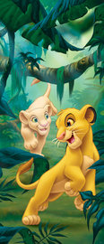 Lion King deurposter Simba en Nala