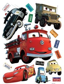 Cars muurstickers XL Red