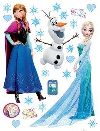 Frozen muurstickers Anna, Olaf en Elsa XL