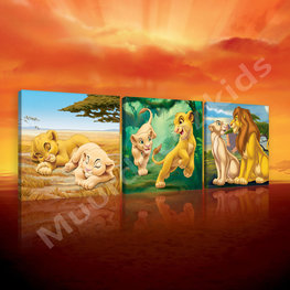 Lion King canvas 3-delige set