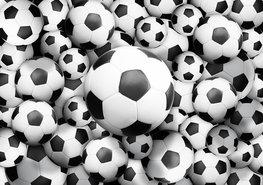 Voetbal behang Voetballen XL