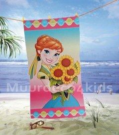 Frozen badlaken Anna met zonnebloemen