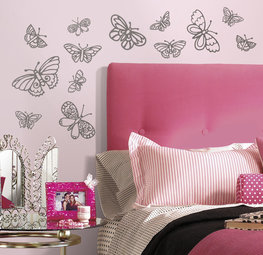 Vlinder muurstickers Glitter Butterflies