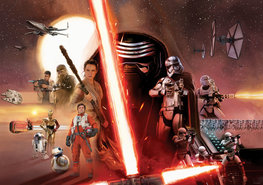 Star Wars VII collage fotobehang L