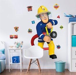 Brandweerman Sam muursticker XXL