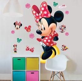 Minnie Mouse muursticker XXL