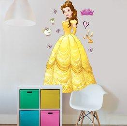 Disney Princess Belle muursticker XXL