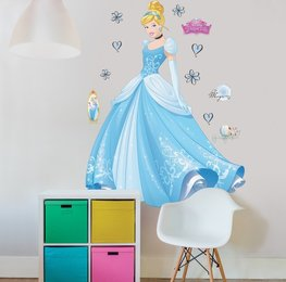 Disney Princess Assepoester muursticker XXL